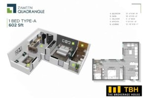 1 Bed Quadrangle (1)