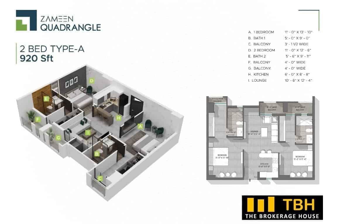 2 Bed Quadrangle (1)