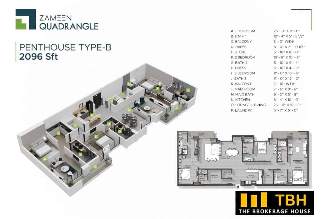 3 Bed Penthouse Quadrangle (1)