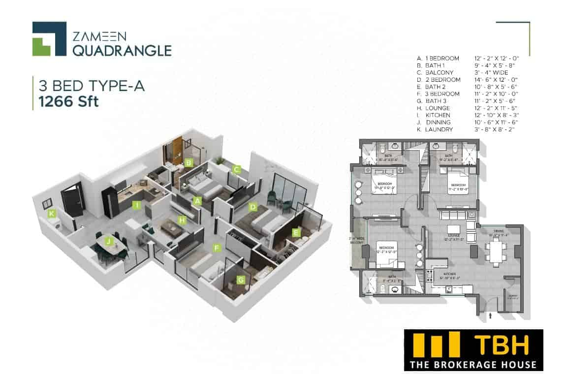 3 Bed Quadrangle (6)